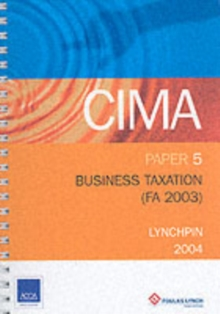 BUSINESS TAXATION FA 2003 P5, Paperback Book