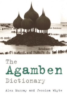 The Agamben Dictionary, Paperback Book