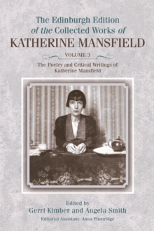 The Poetry and Critical Writings of Katherine Mansfield, Hardback Book