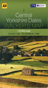 Central Yorkshire Dales, Sheet map, folded Book