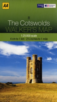 Cotswolds, Sheet map, folded Book