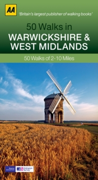 50 Walks in Warwickshire & West Midlands, Paperback Book