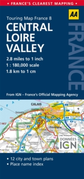 8. Central Loire Valley : AA Road Map France, Sheet map, folded Book
