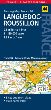 10. Languedoc-Roussillon : AA Road Map France, Sheet map, folded Book