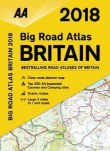 AA Big Road Atlas Britain, Paperback Book