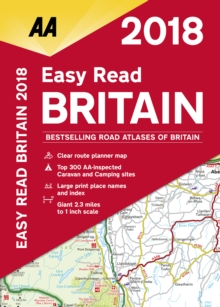 AA Easy Read Atlas Britain, Paperback Book