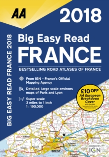 AA Big Easy Read Atlas France, Spiral bound Book