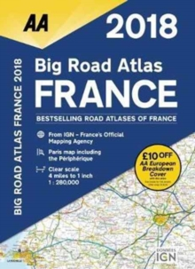 AA Big Road Atlas France, Paperback Book