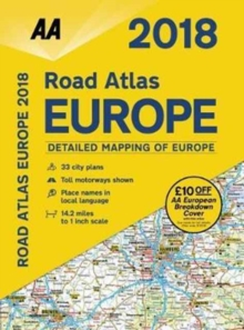 AA Road Atlas Europe, Spiral bound Book