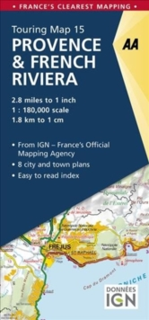 Provence & French Riviera, Sheet map, folded Book