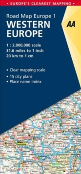 1. Western Europe : AA Road Map Europe, Sheet map, folded Book