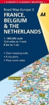 3. France, Belgium & the Netherlands : AA Road Map Europe, Sheet map, folded Book
