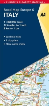 6. Italy : AA Road Map Europe, Sheet map, folded Book
