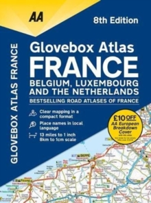 AA Glovebox Atlas France, Spiral bound Book