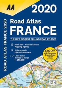 AA Road Atlas France 2020, Spiral bound Book