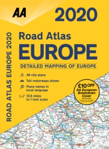 AA Road Atlas Europe 2020, Spiral bound Book