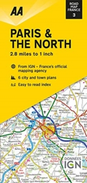 Road Map Paris & The North, Sheet map, folded Book