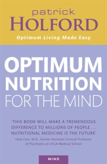 Optimum Nutrition for the Mind, Paperback Book