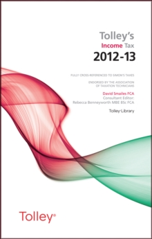 Tolley's Income Tax 2012-13 Main Annual, Paperback Book
