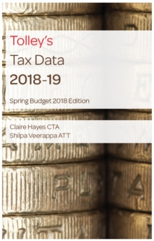 Tolley's Tax Data 2018-19 (Budget edition), Spiral bound Book