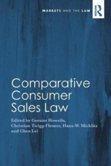 Comparative Consumer Sales Law, Hardback Book