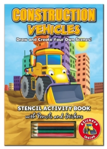 Activity Stencil Books - Construction Vehicles : Colouring & Activity, Novelty book Book