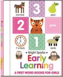 Early Learning - 6 First Word Books For Girls, Board book Book