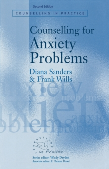Counselling for Anxiety Problems, Paperback / softback Book