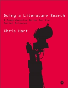 Doing a Literature Search : A Comprehensive Guide for the Social Sciences, Paperback Book