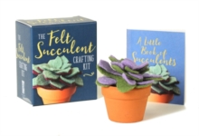 The Felt Succulent Crafting Kit, Mixed media product Book