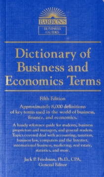 Dictionary of Business and Economic Terms, Paperback Book