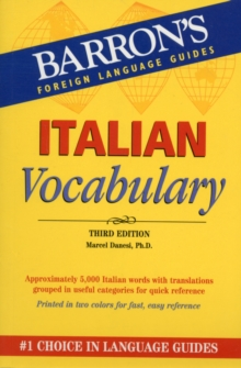 Italian Vocabulary, Paperback Book