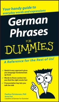German Phrases for Dummies, Paperback / softback Book