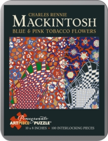 Blue and Pink Tobacco Flowers  Charles Rennie Mackintosh 100-Piece Jigsaw Puzzle Aa795, Other merchandise Book