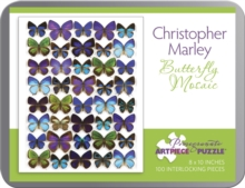Butterfly Mosaic Christopher Marley 100-Piece Jigsaw Puzzle Aa798, Other merchandise Book
