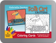 Folk Art Critters Gabriella Denton Coloring Cards Cc106, Other printed item Book