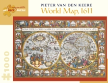 Pieter Van Den Keere World Map 1000-Piece Jigsaw Puzzle  Aa902, Other merchandise Book