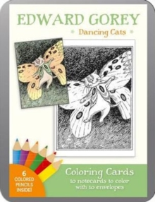 Edward Gorey Dancing Cats Coloring Cards, Other printed item Book