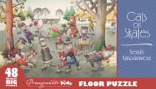 Kestutis Kasparavicius Cats on Skates Floor Puzzle, Other merchandise Book