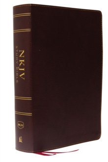 NKJV Study Bible, Bonded Leather, Burgundy, Full-Color, Comfort Print : The Complete Resource for Studying God's Word, Leather / fine binding Book