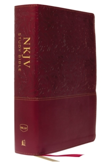 NKJV Study Bible, Leathersoft, Red, Full-Color, Thumb Indexed, Comfort Print : The Complete Resource for Studying God's Word, Leather / fine binding Book