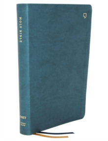 NET Bible, Thinline, Leathersoft, Teal, Comfort Print : Holy Bible, Leather / fine binding Book