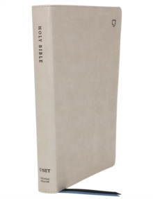 NET Bible, Thinline Large Print, Leathersoft, Stone, Comfort Print : Holy Bible, Leather / fine binding Book