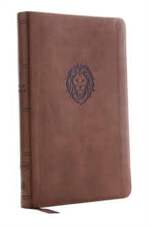KJV, Thinline Bible Youth Edition, Leathersoft, Brown, Red Letter Edition, Comfort Print : Holy Bible, King James Version, Leather / fine binding Book