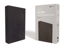 NET Bible, Thinline Reference, Large Print, Leathersoft, Black, Comfort Print : Holy Bible, Leather / fine binding Book