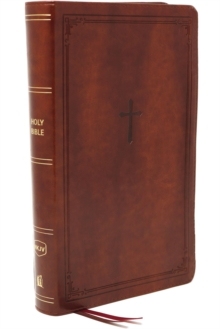 NKJV, End-of-Verse Reference Bible, Compact, Leathersoft, Brown, Red Letter, Comfort Print : Holy Bible, New King James Version, Leather / fine binding Book