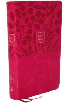 NKJV, End-of-Verse Reference Bible, Personal Size Large Print, Leathersoft, Pink, Red Letter, Comfort Print : Holy Bible, New King James Version, Leather / fine binding Book