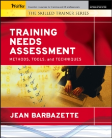 Training Needs Assessment : Methods, Tools, and Techniques, PDF eBook