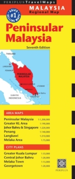Peninsular Malaysia Travel Map, Sheet map, folded Book