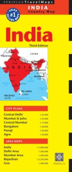 India Travel Map, Sheet map, folded Book